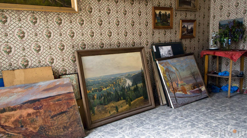Картины Ф.Халикова в мастерской::Фиринат Халиков