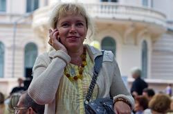 Ольга Фролова на джазе в усадьбе Сандецкого. Июль 2012