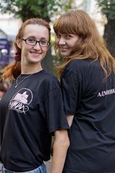 Администраторы фестиваля: Ольга и Юля