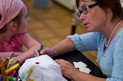 Ирина Нейдерова  на  детской игровой площадке в Ресурсном центре ГМИИ РТ