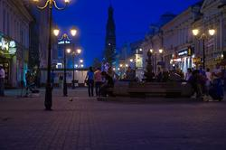 Вид ул. Баумана от фонтана ''Лягушки'' к ''Кольцу''