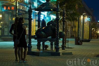 ʺКот Казанскийʺ, ул. Баумана, Казань, 14.07.2012::ул Баумана, вечер 14 июля 2012