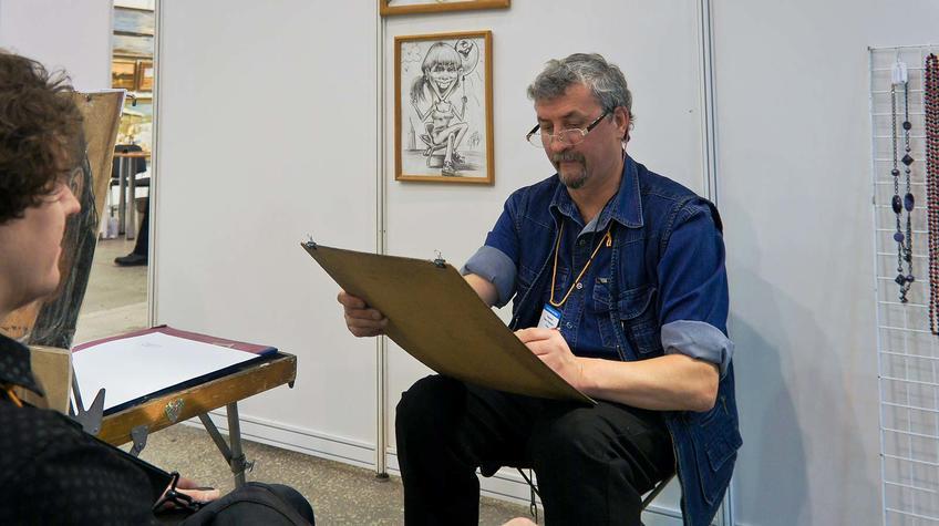 Фото №89793. Павел Гардымов (Пермь), художник (шаржи и графические портреты)