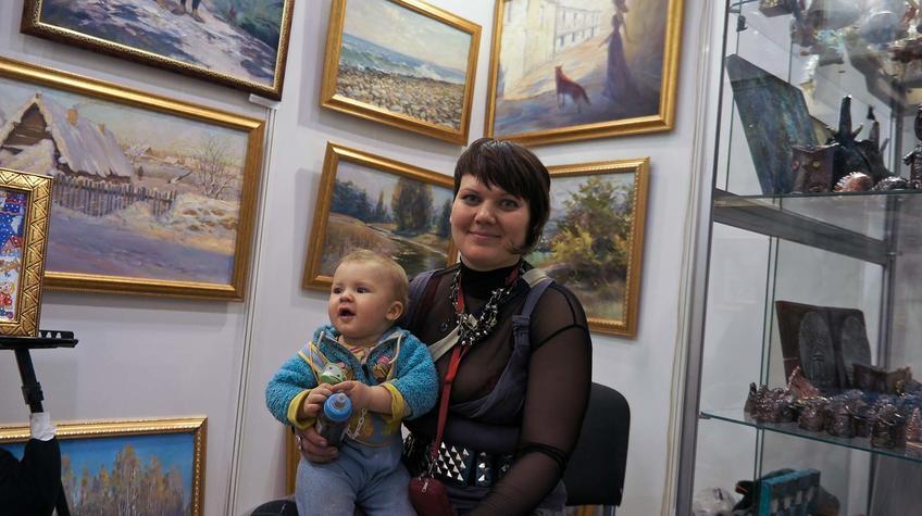 Светлана Рыбина с сыном на Пермской ярмарке::«Арт Пермь» — 2012