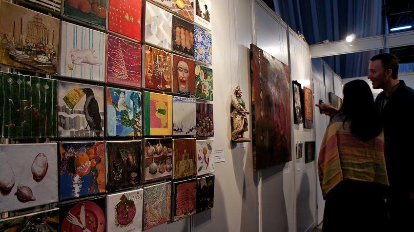 Знакомство с экспозицией выставки::«Арт Пермь» — 2012