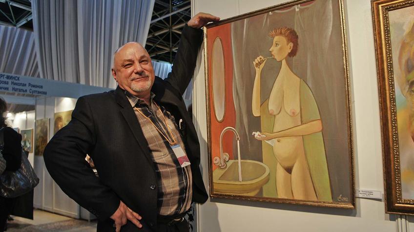 Чистка зубов. Виктор Остапенко. ПроектʺПермские художники в жанре Нюʺ::«Арт Пермь» — 2012