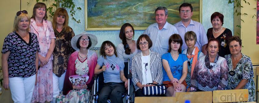 Фото №107002. Участники творческой встречи в вечерней школе№1 г. Альметьевска, 21.07.2012
