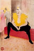 Сидящая клоунесса Ша-Ю-Као. Из альбома цветных литографий