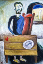 Автопортрет ( В келье). 1973. Кондратьев Д.С. (1928-2008)