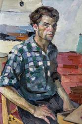 Автопортрет «Начало». 1965. Кондратьева Д.С. (1928-2008)