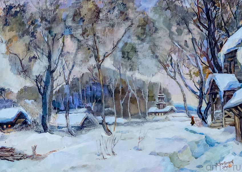 Зимний день. Батраев З.С.::Галерея Мазитова