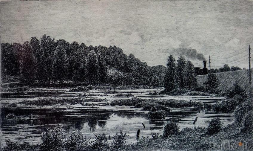Фото №114566. Болото по Варшавский железной дороге. 1886.  Шишкин И.И.(1832-1898)