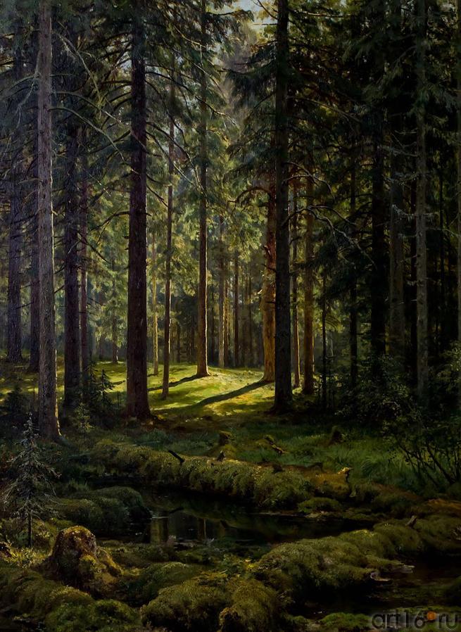 Фото №114728. Хвойный лес. Солнечный день. Шишкин И.И.(1832-1898)