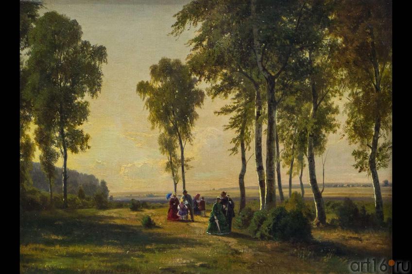 Фото №114818. Пейзаж с гуляющими. 1869.  Шишкин И.И.(1832-1898)