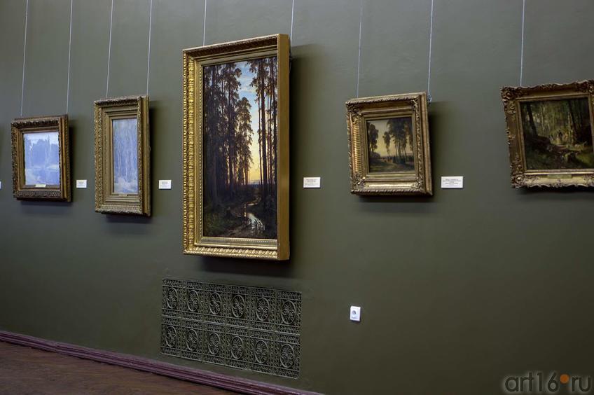 Фото №114872. Фрагмент экспозиции выставки «Иван Иванович Шишкин. Жизнь и творчество».