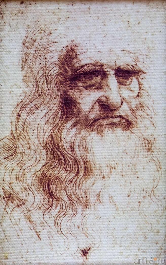 Фото №115216. Портретс самого себя в преклонном возрасте. Леонардо да Винч