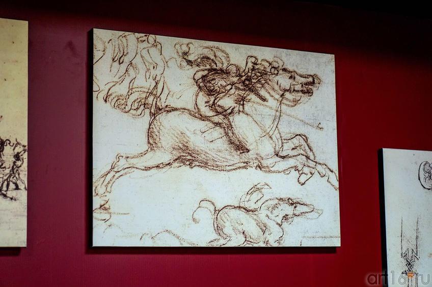 """Фото №115234. Зарисовки к фреске """"Битва при Ангиари"""""""
