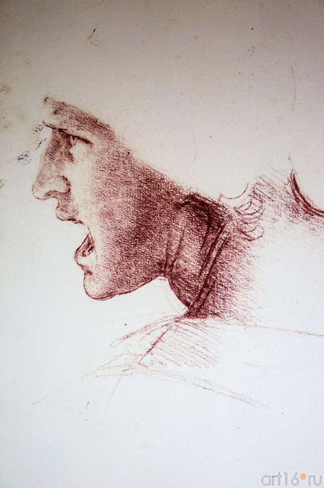 """Фото №115240. Зарисовки к фреске """"Битва при Ангиари"""""""