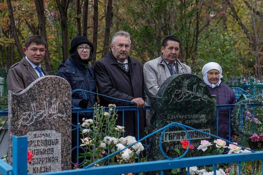 Фото №116364. И.Кутдусов, Н.Ахунова, В.Нуриев, Д.Салихов, Сарвар апа