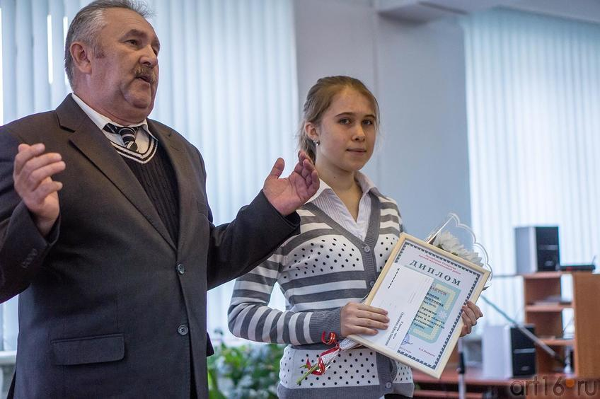 Фото №116562. Вакиф Нуриев, Галимзянова Лейсан, уч-ца 10-го класса Ново-Кишитской СОШ
