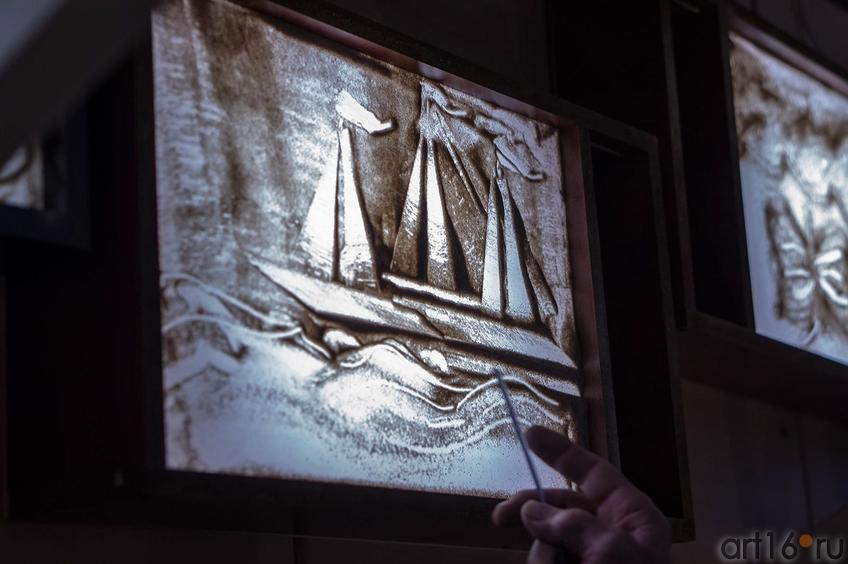 Фото №116801. Песочный рисунок Дамира. Мастер-класс по песочной анимации Елены Ермолиной