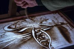 песочный рисунок Дамира. Мастер-класс Елены Ермолиной по песочной анимации