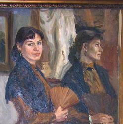 Портрет с веером. 1993