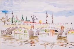 Прага. Мост Легии. Альберт Галимов
