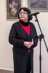 Розалина Шагеева, искусствовед. Открытие выставки арт-группы ''Дастан''