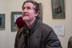 Евгений Канаев на выставке арт-группы ''Дастан''