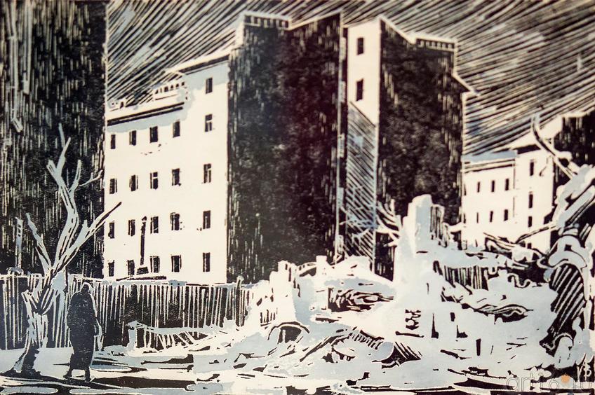 Фото №117678. Иванов В.В. 1906-1969. Из цикла ''Дни и ночи Ленинграда''. 1948