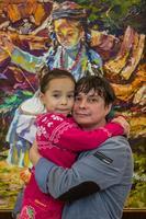 Александр Шадрин с дочерью. Выставка