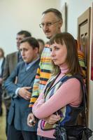Р.Хузин, В.Скобеев, Е.Титова. Открытие выставки