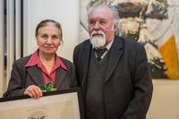 Фарид Суюров с супругой. Выставка
