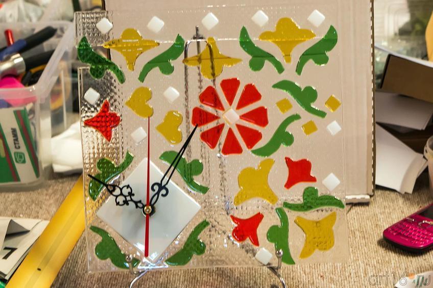 Фото №119243. Часы. Фьюзинг. Дом стеклянного творчества, ноябрь 2012