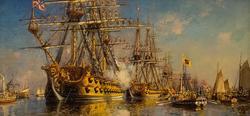 Парад флота в честь II годовщины Ништадского мира. С.Ф.Пен