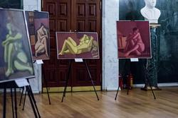Фрагмент экспозиции выставки А.Бугакова (Москва)
