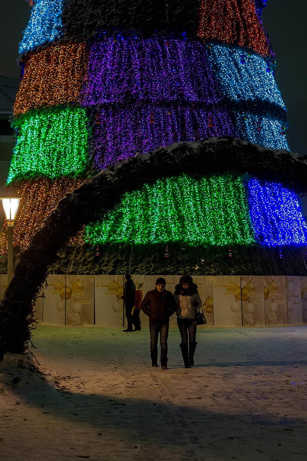 Фото №122308. Фрагмент ёлки в  парке Тысячелетия