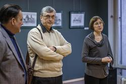 А. Артамонов, И.Самакаев, О.Улемнова. Открытие выставки ''Про-карандаш''