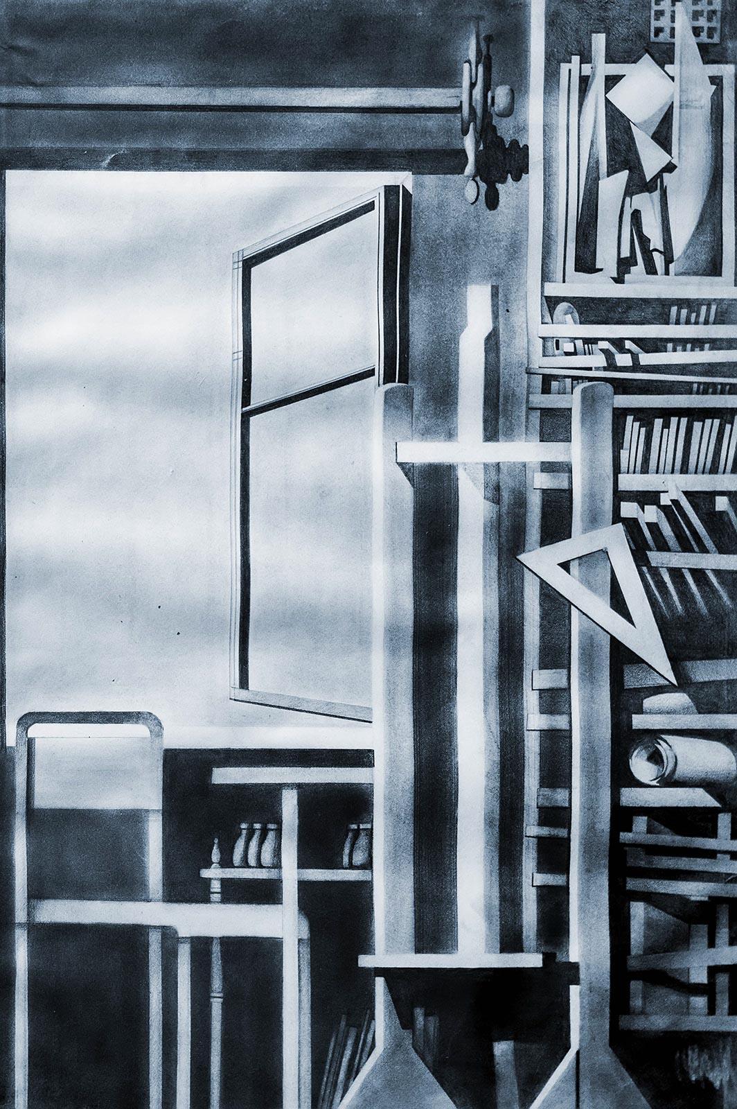 Фото №123326. СКАЧКОВА ИРИНА Камский институт искусств и дизайна г.Набережные Челны ИНТЕРПРЕТАЦИЯ ПО ЛЮБИМОМУ ХУДОЖНИКУ Бумага, карандаш
