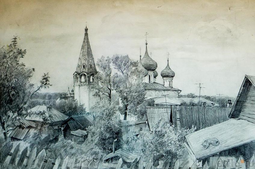 Фото №123344. БЕРДНИКОВ ЮРИЙ г.Казань ГОРОХОВЕЦК Бумага, карандаш