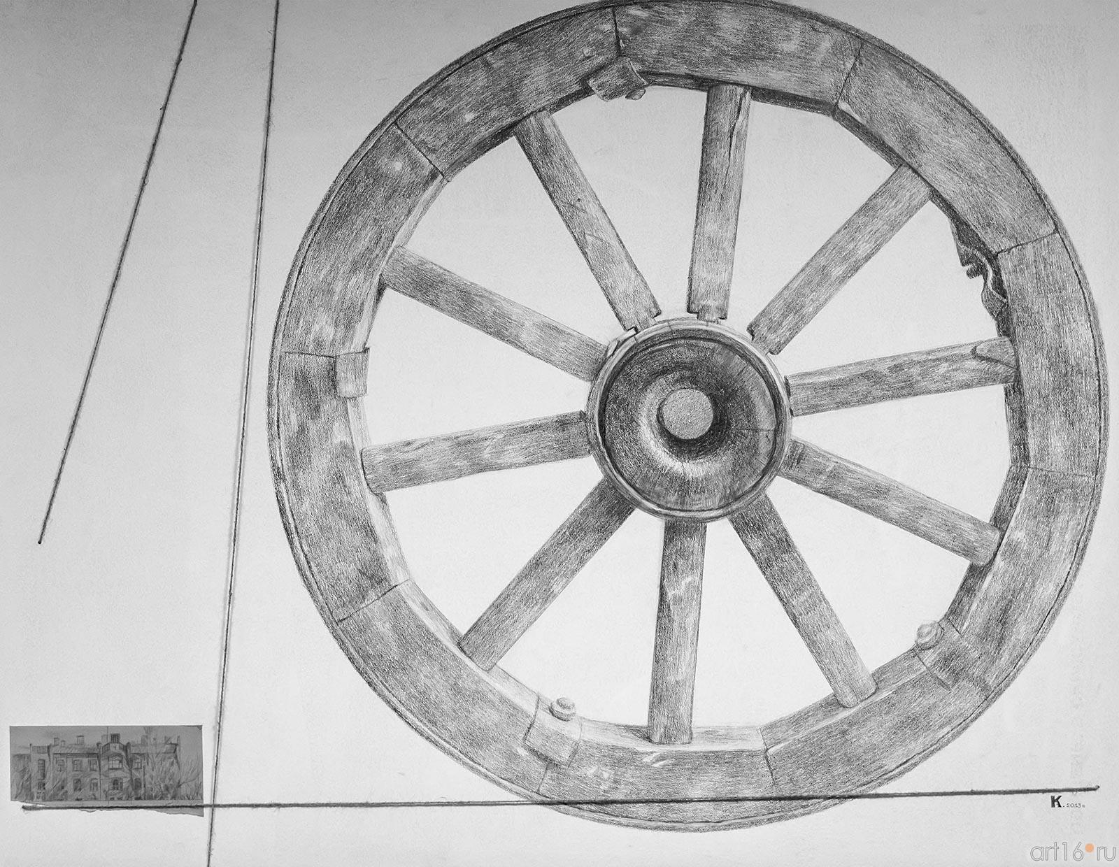 КАРАСЕВА ВЕРА г.Зеленодольск КОЛЕСО. 2013 Пенокартон, карандаш::Про-карандаш