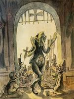 ИЛЛЮСТРАЦИЯ К ПРОИЗВЕДЕНИЮ М.Е. САЛТЫКОВА-ЩЕДРИНА «ИСТОРИЯ ОДНОГО ГОРОДА». 1948