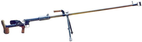 Фото №12692. ПТРД (Противотанковое ружье Дегтярева) Образца 1941 г. Калибр 14,5-мм.