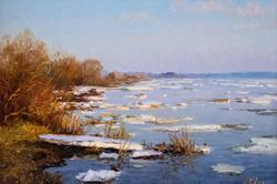 Викентий Лукиянов «Ледоход на Волге»