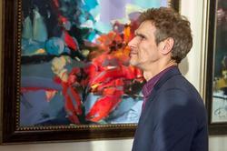 Махмуд Вагапов у картины Федорова