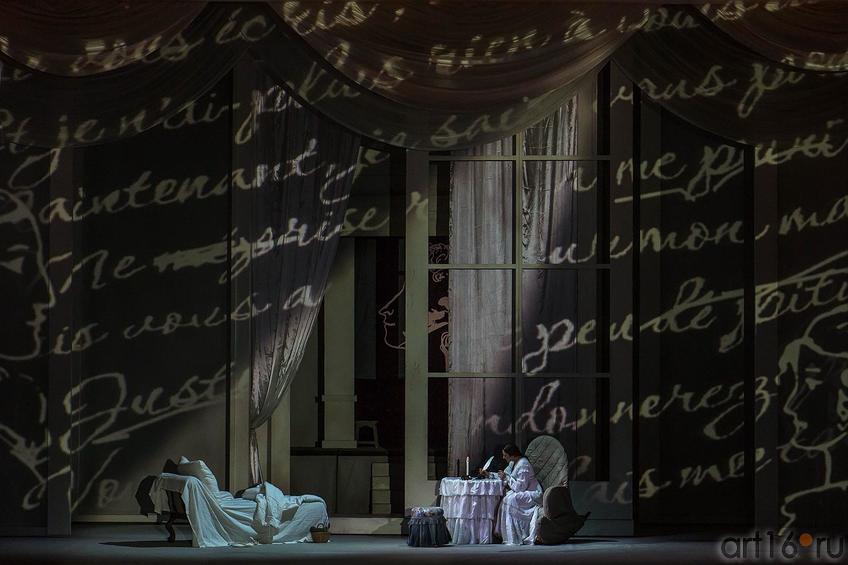 Сцена письма.  Опера ʺЕвгений Онегинʺ, 1-е действие, 2-я картина::Опера «Евгений Онегин», XXXI Шаляпинский оперный фестиваль