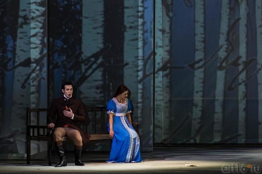 Фото №134045. Объяснения Татьяны и Онегина. Опера ''Евгений Онегин. Действие 1-е, 3-я картина.