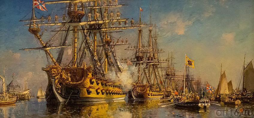 Фото №119814. Парад флота в честь II годовщины Ништадского мира. С.Ф.Пен