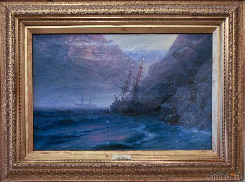 Фото №92585. Контрабандисты. 1884. Айвазовский И.К (1817-1900)